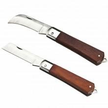 Set 2 coltello Elettricista lame richiudibili Lama Dritta curva Falce coltelli