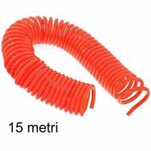Tubo a spirale aria compressa per compressore NO attacchi 9 12 15 metri prolunga