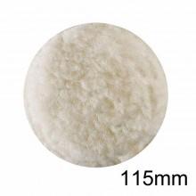 Cuffia tampone in lana 115 mm lucidare attacco a velcro per smerigliatrici