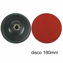 Platorello porta disco carta vetrata con velcro cuffia smerigliatrice 180mm