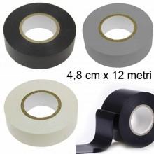 6 Pezzi Nastro isolante Nero Bianco Grigio 4,8cm x 12 Metri elettricista