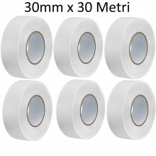 6 Rotoli Nastro carta mascheratura BIANCO carrozziere adesivo mm 30 x 30 Mt
