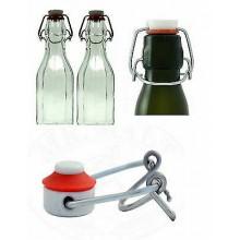 30 Tappi ermetici a leva con guarnizioni passo 41 tappo ermetico bottiglie vetro
