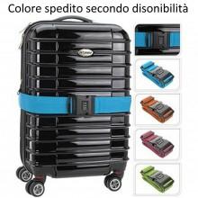 Cinghia per valigia fascia sicurezza bagaglio chiusura combinazione viaggio
