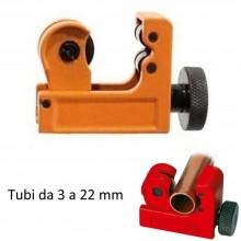 Tagliatubi compatto a rotella tubi rame alluminio diametro 3-22 mm taglia tubi