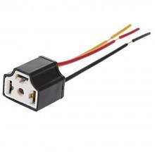 Cavo connettore ricambio lampada H4 attacco cablaggio auto moto 3 poli