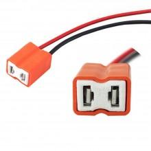 Cavo connettore ricambio lampada H7 attacco cablaggio auto moto 2 poli
