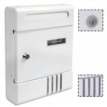 Cassetta postale posta metallo BIANCO buca porta lettere verniciata alluminio