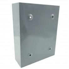 Cassetta postale posta metallo GRIGIA buca porta lettere verniciata alluminio