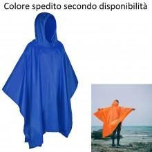 Poncho impermeabile pioggia uomo donna Taglia Unica mantella antipioggia