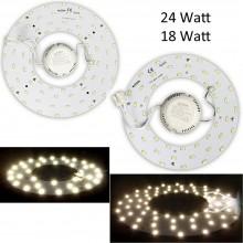 Circolina Led piastra disco plafoniera anello luci 18W 24W circolare 3000K 6000K