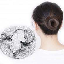 3x Retina per capelli NERO acconciatura chignon danza parrucca retine elastiche