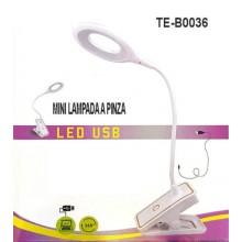 Lampada LED da tavolo pinza scrivania luce flessibile USB touch TE-B0036