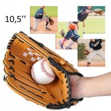 Guantone Baseball 10,5 pollici softball sport lanci guanto allenamento Marrone