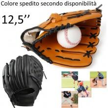 Guantone Baseball 12,5 pollici softball sport guanto allenamento Marrone Nero