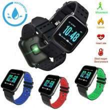Orologio smartwatch A6 da polso per sport fitness monitor notifiche IOS ANDROID