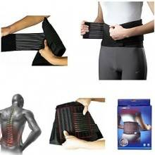 Fascia Lombare tutore elastico con stecche di rinforzo semi rigide. Sostegno a corsetto regolabile