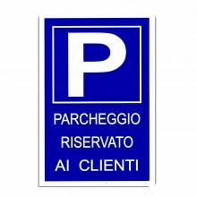 12x Cartello PARCHEGGIO RISERVATO AI CLIENTI Plastificato 20x30 cm targa parking