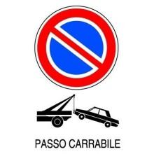 12x Cartello PASSO CARRABILE Plastificato PVC 20x30 cm targa segnaletica tabella
