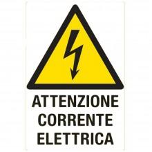 12x Cartello ATTENZIONE CORRENTE ELETTRICA Plastificato PVC 20x30 cm segnaletica