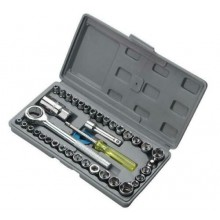 Set valigetta chiavi chiave a bussola con cricchetto kit 40 pezzi giravite brico