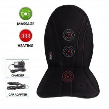 Schienale massaggiante cuscino sedia auto casa ufficio vibrante riscaldato relax