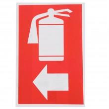12x Cartello ESTINTORE A SINISTRA Plastificato PVC 20x30 cm segnaletica