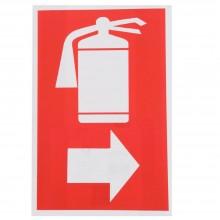 12x Cartello ESTINTORE A DESTRA Plastificato PVC 20x30 cm segnaletica
