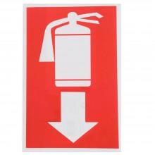 12x Cartello ESTINTORE IN BASSO Plastificato PVC 20x30 cm segnaletica