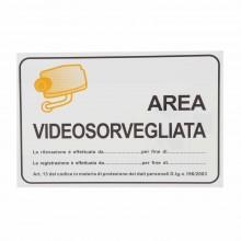 12x Cartello AREA VIDEOSORVEGLIATA Plastificato PVC 20x30 cm segnaletica