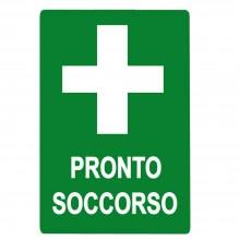 12x Cartello PRONTO SOCCORSO Plastificato PVC 20x30 cm segnaletica emergenza