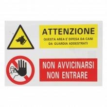 12x Cartello ATTENZIONE + NON ENTRARE PVC 20x30 cm segnaletica casa