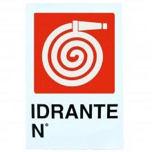 12x Cartello IDRANTE N Plastificato PVC 20x30 cm segnaletica sicurezza targa