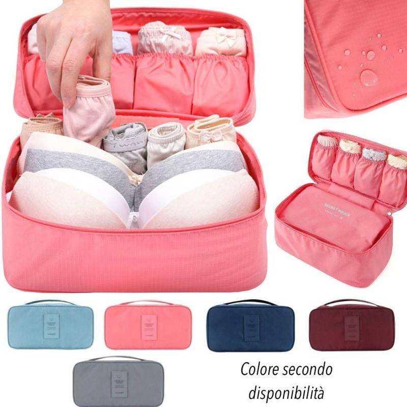 Organizer da viaggio organizza valigia trolley tasche chiusura zip - vari colori