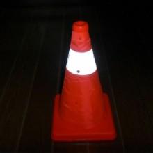 Cono spartitraffico segnaletica stradale segnale sicurezza pericolo 30 cm