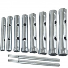 Set 8 Chiavi tubo doppie tubolari esagonali avvitare svitare ferramenta chiave