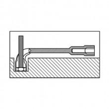 Set 8 Chiavi pipa esagonali bulloni 8-17 mm chiave acciaio forgiato lucidato L