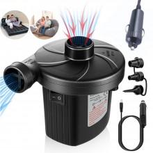 Pompa elettrica gonfia sgonfia 12V presa accendisigari materassini gonfiabili