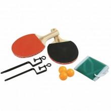 Kit tennis da tavolo racchette 3 palline rete con morsetti set daping pong gioco