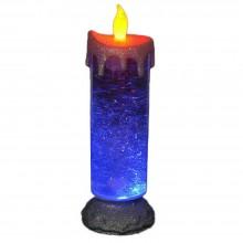 Candela LED cambia colore RGB glitter brillantini lampada luce casa arredo