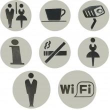 Targhetta autoadesiva targa segnaletica ristorante bar ufficio WC plastica