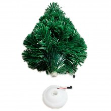Alberello di Natale per ufficio fibra ottica luci led multicolore 34 cm albero