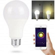 Lampadina LED E27 lampada smart controllo wifi 12W luce calda fredda app
