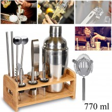 Set 12pz shaker per cocktail kit completo bartender barista mixer 770 ML drink