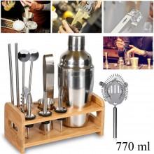 Set 12pz shaker per cocktail kit completo bartender barista mixer 550 ML drink