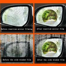 Coppia Pellicola specchietto retrovisore laterale ROTONDO Antiappannante pioggia