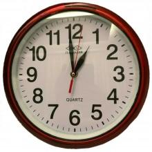 Orologio da parete Tondo quarzo diametro 25cm breaker369 effetto legno scuro