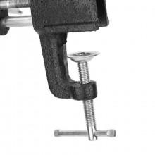 Morsa da banco base girevole tenuta 25 mm fissaggio a morsetto in ghisa lavoro