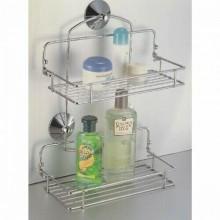 Porta oggetti per bagno in acciaio con ribaltina 28x13xH36 cm bagno organizer