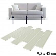Set 6 Pannelli divano ripara sedute letto poltrone 48x9,5cm tavole lamine divani